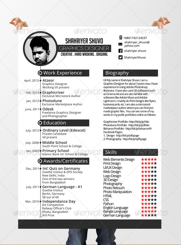 GraphicRiver Minimal Timeline Resume 6058428
