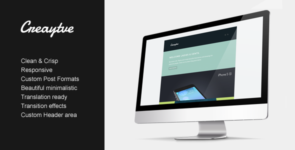 ThemeForest Creaytve Clean & creative blogging 6058528