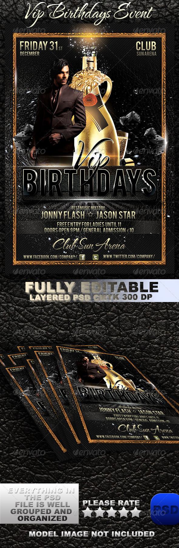 GraphicRiver VIP Birthdays Event 6059070