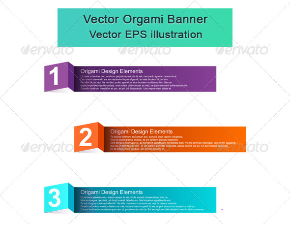 GraphicRiver Vector Origami Elements 6059109