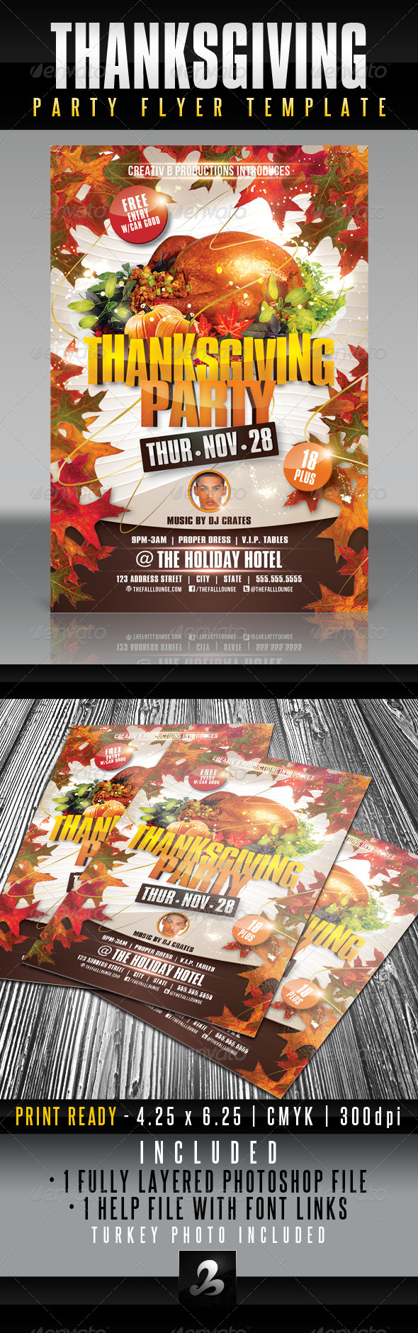 GraphicRiver Thanksgiving Party Flyer Template 6059170