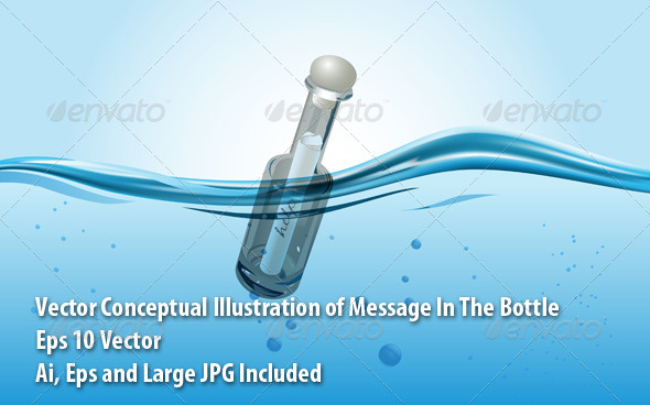 GraphicRiver Message in the Bottle 6059400