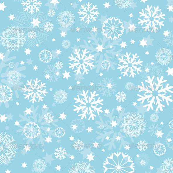 GraphicRiver Snowflakes and Stars Background 632154