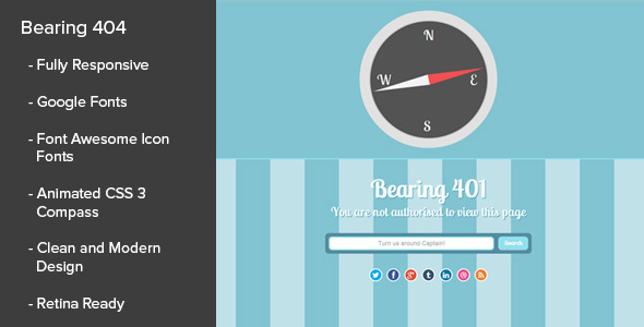 ThemeForest Bearing 404 Responsive Error Pages 6010105