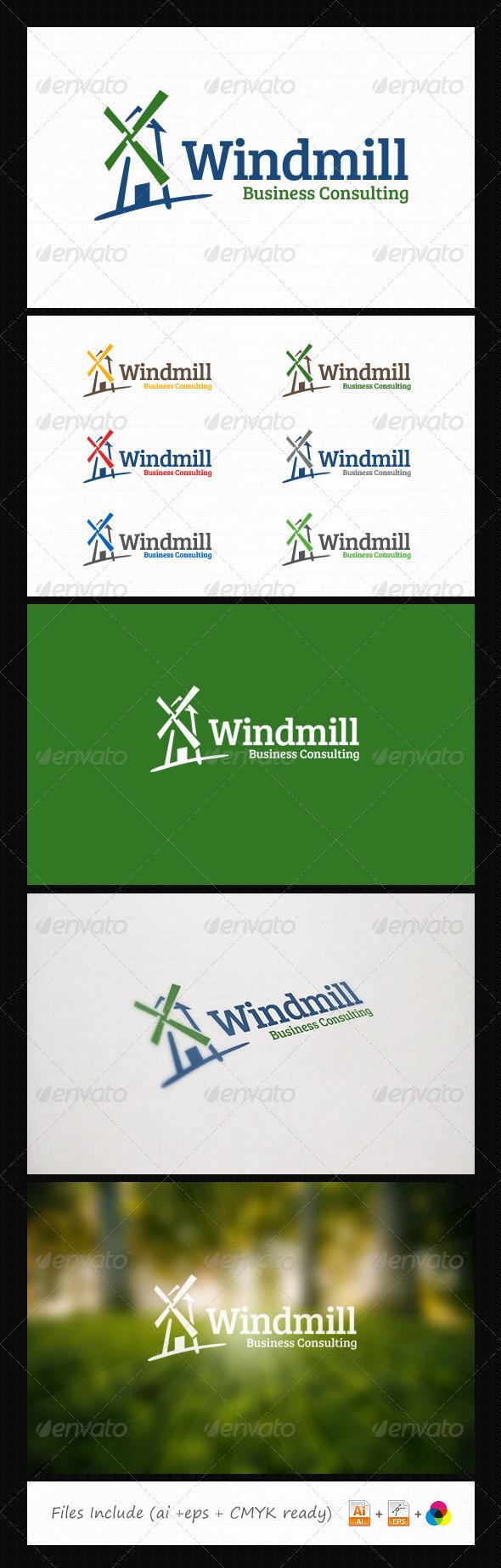GraphicRiver Windmill Consulting Logo 6059572