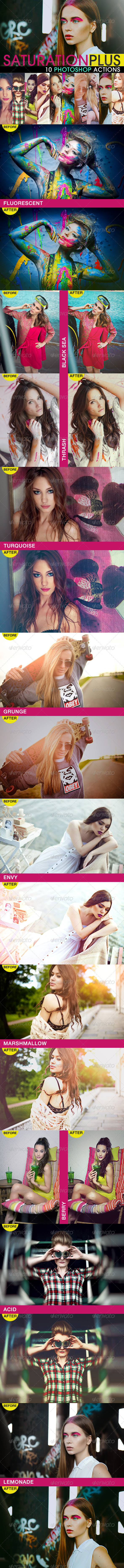 GraphicRiver SaturationPLUS Photoshop Actions 6059649