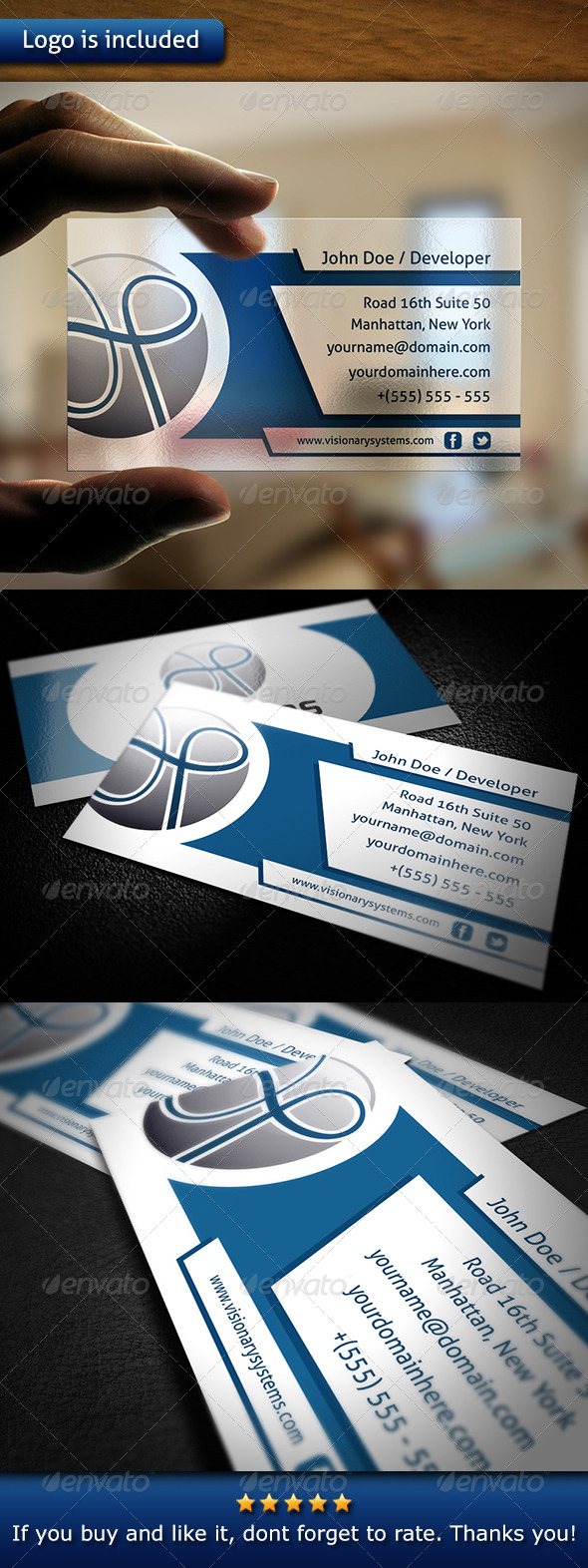 GraphicRiver Tech Business Card 6059820