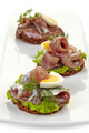 canapes with anchovies and egg - PhotoDune Item for Sale