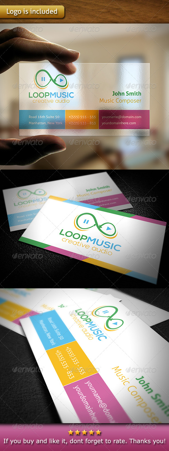 GraphicRiver Music Business Card 6060050