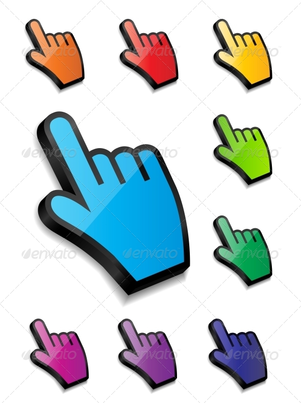 GraphicRiver Mouse Hand Cursor Vector Illustration 6060058