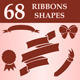 Ribbons custom shapes - GraphicRiver Item for Sale