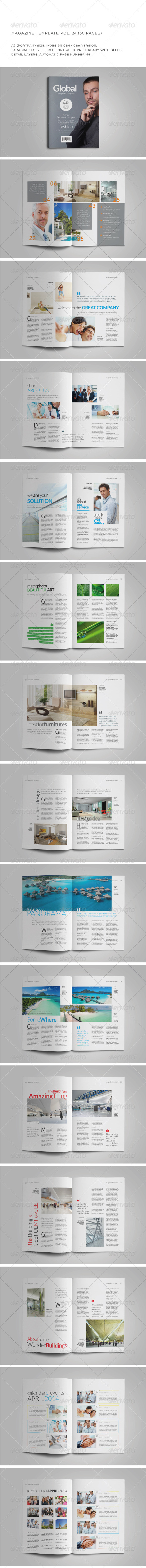A5 Portrait 30 Pages MGZ (Vol. 24) - Magazines Print Templates
