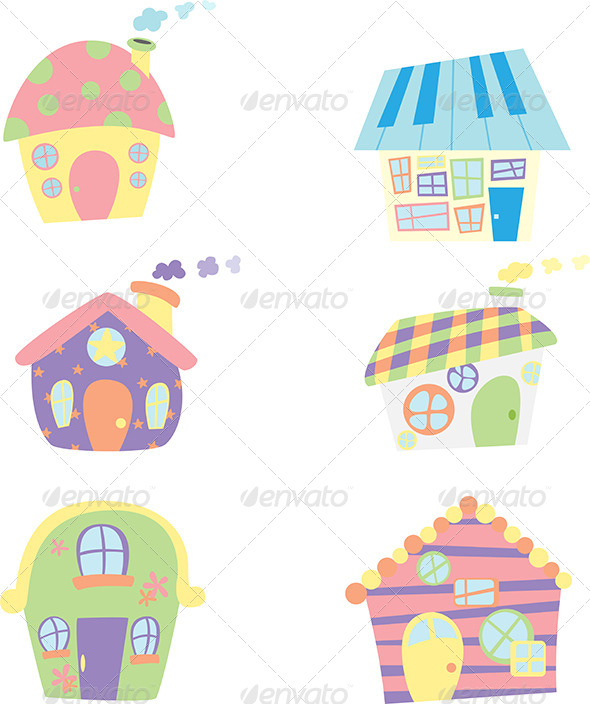 GraphicRiver Houses Icons 6062070