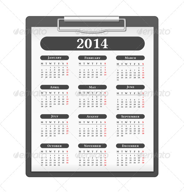 GraphicRiver 2014 Calendar 6062974