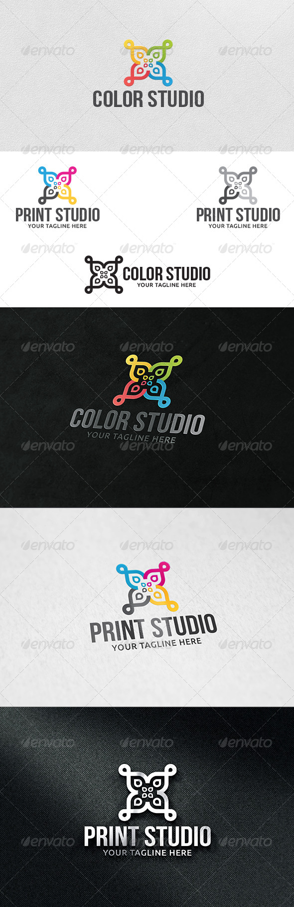 GraphicRiver Print Studio Logo Template 6063279