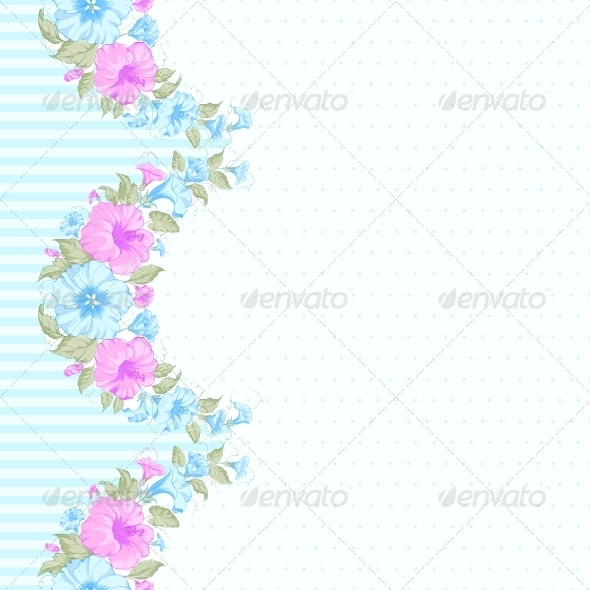 GraphicRiver Pink Flower Seamless Pattern 6063616