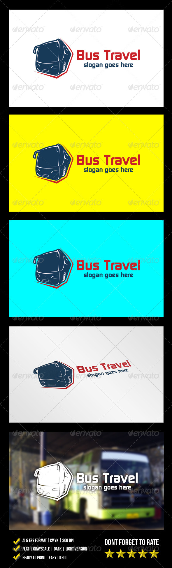 GraphicRiver Bus Travel Logo 6064108