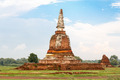 An ancient pagoda, Temple in Ayutthaya, Thailand - PhotoDune Item for Sale