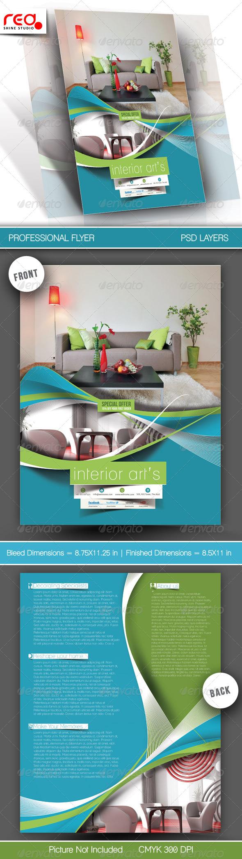 GraphicRiver Architecture & Interior Designer Flyer Template 6064150