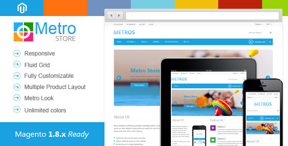 ThemeForest Metro Store Responsive Premium Magento Theme 6064830