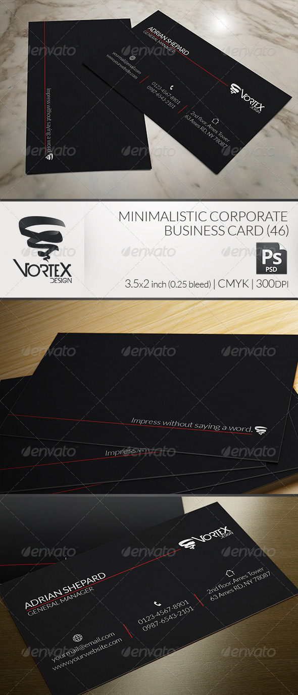 GraphicRiver Minimalistic Corporate Business Card 6064968