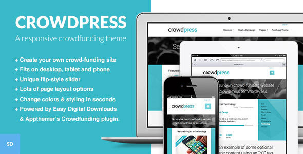 CrowdPress - A Crowdfunding WordPress Theme
