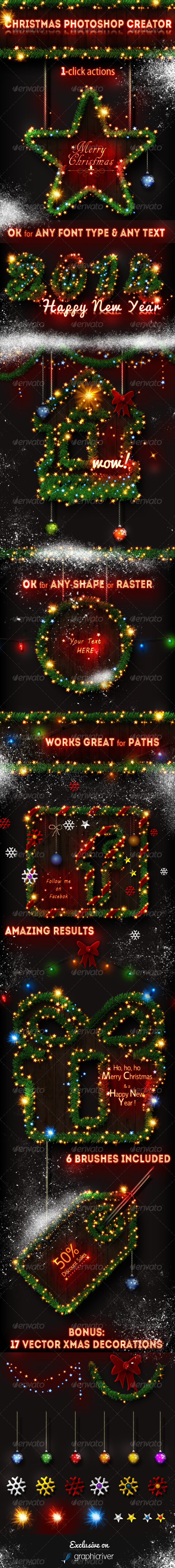 Christmas Tree Photoshop Creator - Utilities Actions