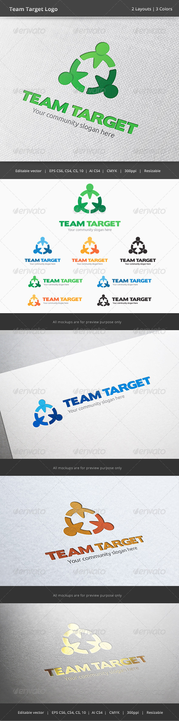 GraphicRiver Team Taget People Logo 6066453