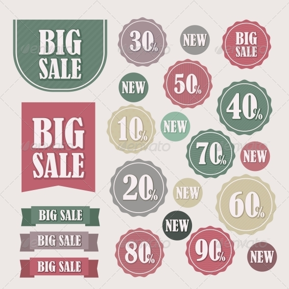 GraphicRiver Set of Sale Labels and Banners 6066624