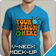 V-Neck T-Shirt Mockup - GraphicRiver Item for Sale