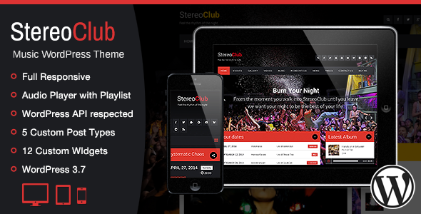 StereoClub / NightClub & Music WordPress Theme - Music and Bands Entertainment