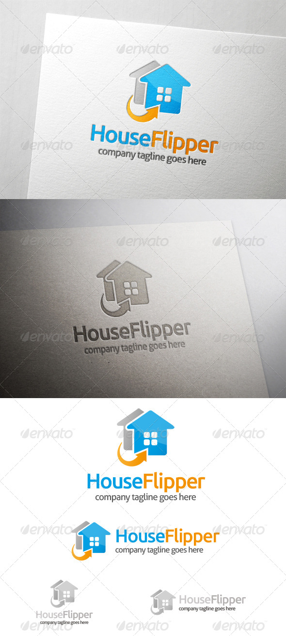GraphicRiver House Flip Logo 6066943