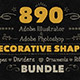 890 Handwritten Shapes - Bundle - GraphicRiver Item for Sale