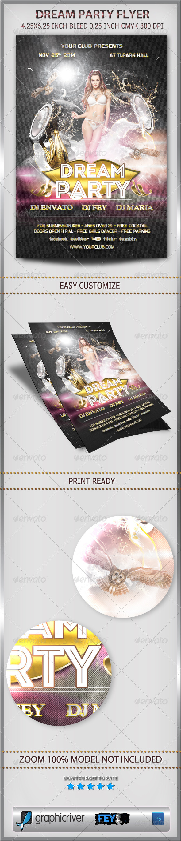 GraphicRiver Dream Party Flyer 6035899