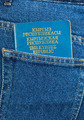 Kyrgyz Republic passport in the back jeans pocket - PhotoDune Item for Sale