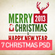 7 Backrgound / Card Christmas PSD - GraphicRiver Item for Sale