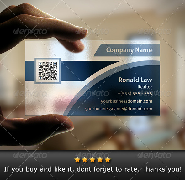 GraphicRiver Transparent Business Card v2 6069677