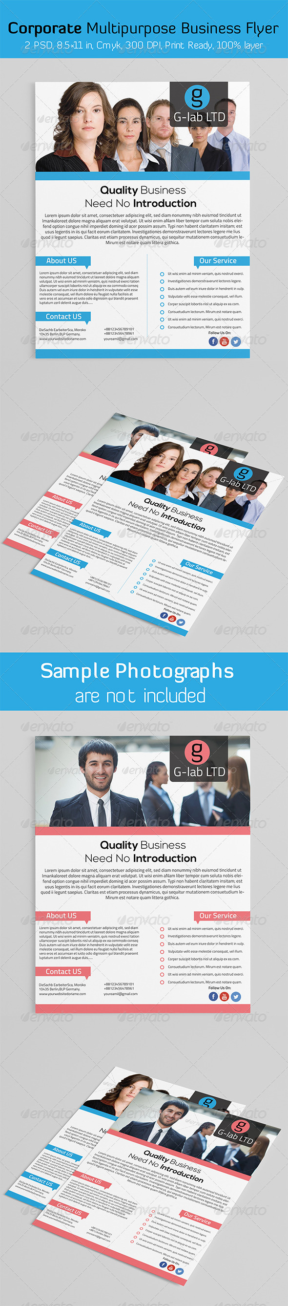 GraphicRiver Corporate Multipurpose Business Flyer 6070496
