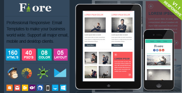 ThemeForest Fiore Responsive Email Template 6070701