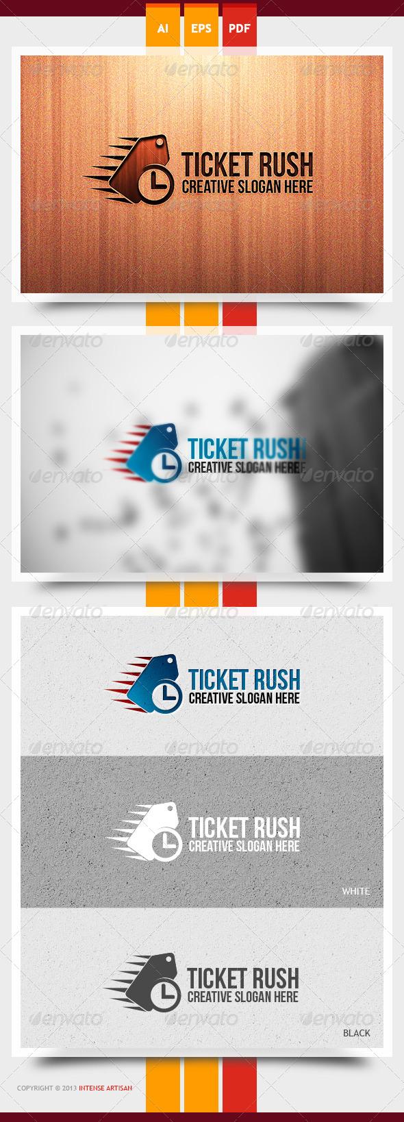 GraphicRiver Ticket Rush Logo Template 6070911