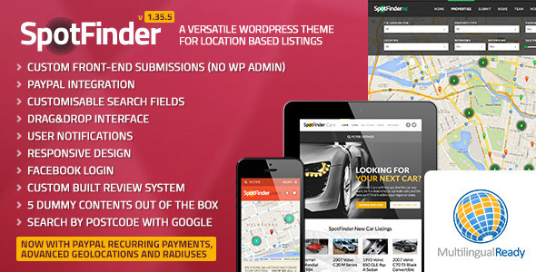 SpotFinder - Versatile Directory & Listings Theme - Retail WordPress