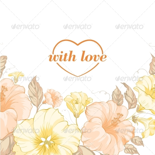 GraphicRiver Yellow Flowers on White 6071679