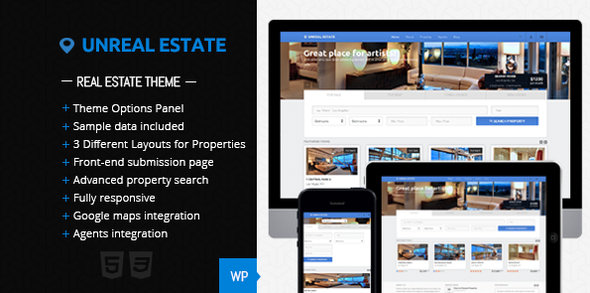 Unreal Estate - Real Estate WordPress Theme - Business Corporate