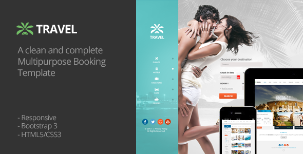 ThemeForest Travel Agency Responsive HTML5 Template 6070517