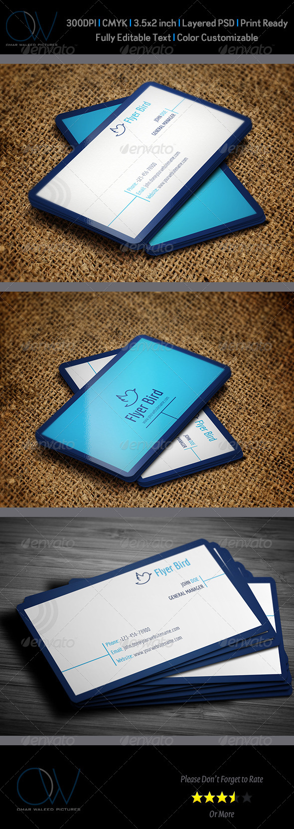 GraphicRiver Corporate Business Card Template Vol.43 6074299