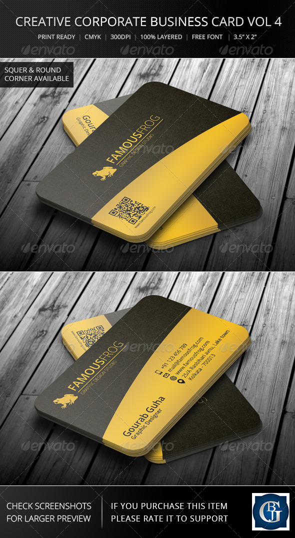 GraphicRiver Creative Corporate Business Card Vol 6 6045646