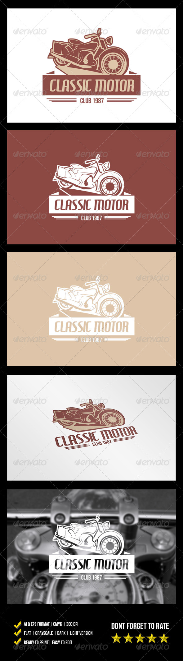 GraphicRiver Classic Motor Logo 6075251