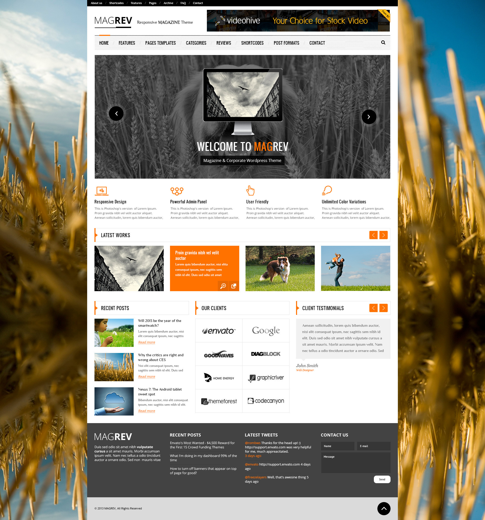 Magrev: Magazine & News Wordpress Theme