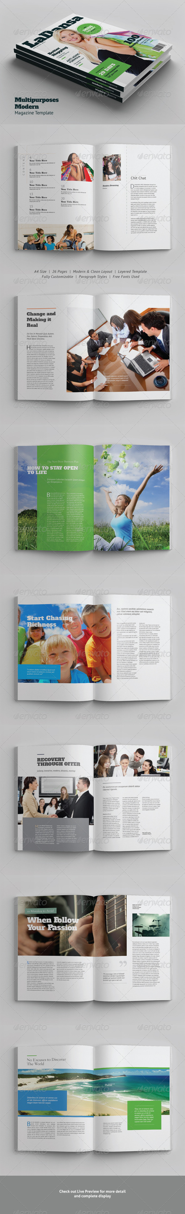 GraphicRiver Multipurposes Modern Magazine Template 6045305