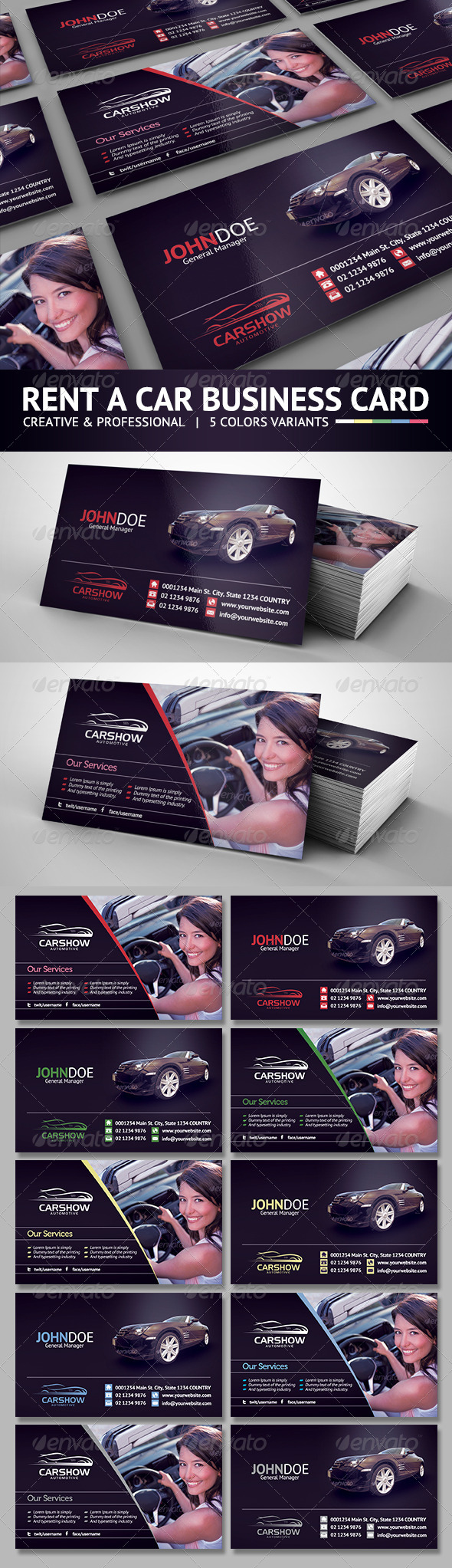 GraphicRiver Rent A Car Business Card 6076004